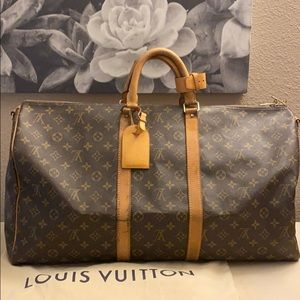 Keepall Bandouliere LV 55 w Tag and Dustbag